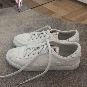 Nike White Low Blazers